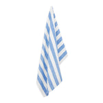 BLUE STRIPE LINEN BEACH TOWEL