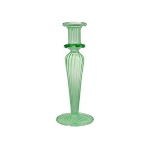 JONQUIL GLASS CANDLESTICK - GREEN