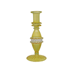 HONORIA GLASS CANDLESTICK - YELLOW