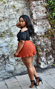 EFFORTLESS PLEAT   |   HIGH WAIST SHORTS