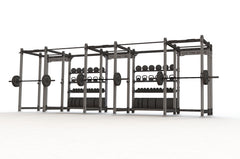 Raider Treble Full Rack and Storage | Squat Rack