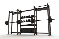 Raider Half Rack Double With Storage| Squat Rack | Bench Press