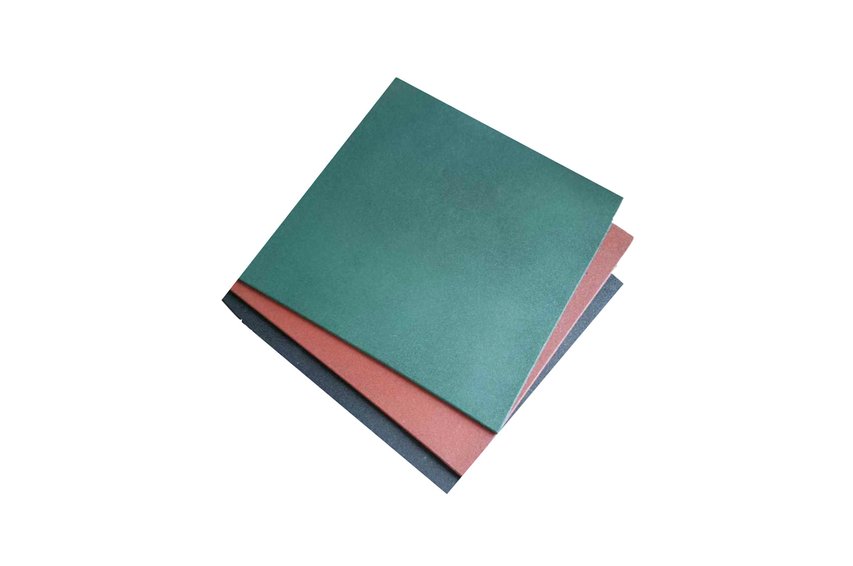 Green Rubber Flooring Tile