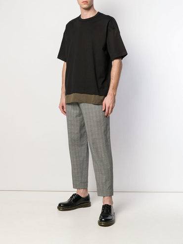 ZIGGY CHEN checked trousers