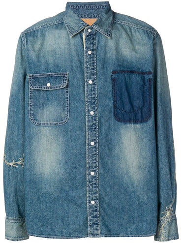 SACAI embroidered jean chambray