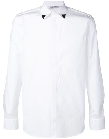 NEIL BARRETT printed collar shirt