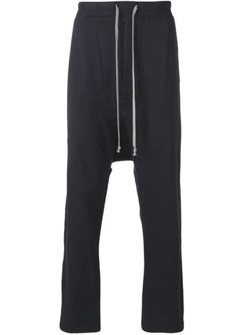 RICK OWENS DRKSHDW drawstring waist drop crotch trousers