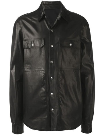 RICK OWENS leather shirt jacket