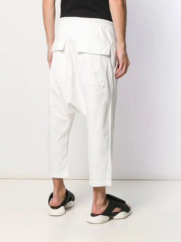 RICK OWENS DRKSHDW drawstring drop crotch trousers