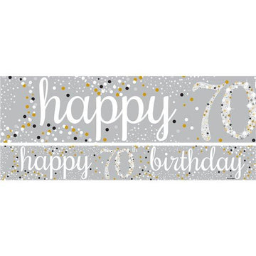 70th Birthday Paper Banners (3 pk)
