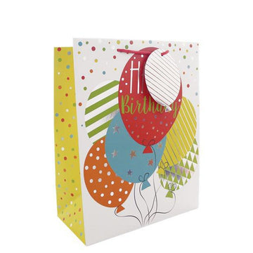Birthday Balloons Medium Gift Bag - 25cm (each)