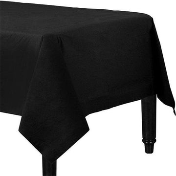 Black Plastic Lined Paper Tablecover - 1.4m x 2.8m (each)