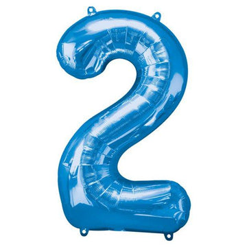Blue Number 2 Balloon - 34