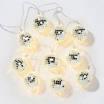 Christmas & New Year 10 Disco Ball Lights - 1.35m (each)
