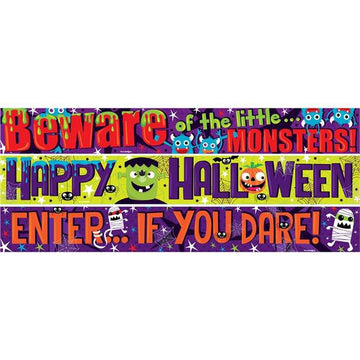 Halloween Family Fun Paper Banners (3 pk)