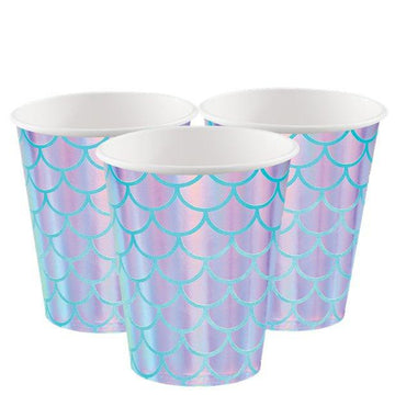 Mermaid Shine Paper Party Cups - 256ml (8 pk)