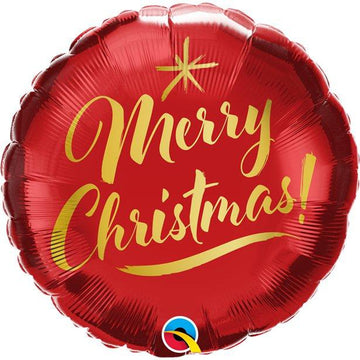 Merry Christmas Gold Script Balloon - 18