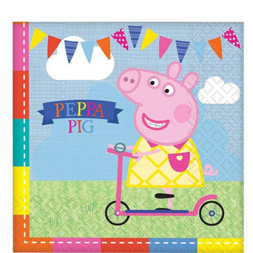 Peppa Pig Lunch Napkins - 33cm (16 pk)