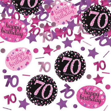 Pink Celebration Age 70 Confetti - 34g