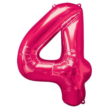 Pink Number 4 Balloon - 34