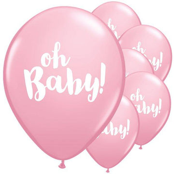 Pink Oh Baby Balloons - 11