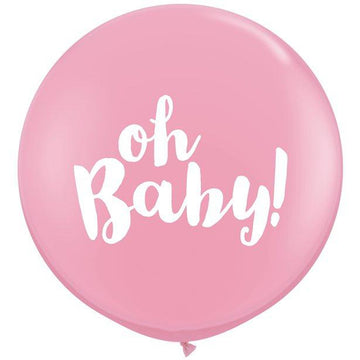 Pink Oh Baby Giant Balloon - 36