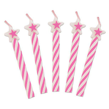 Pink Star Top Candles (8 pk)