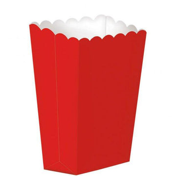 Red Small Popcorn Boxes - 13cm (5 pk)