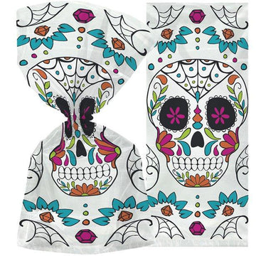 Skull Day of the Dead Cello Bags (20 pk)