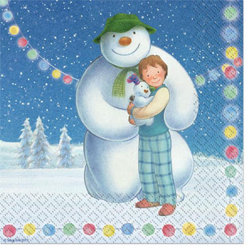 Snowman and Snowdog Napkins - 2ply Paper (18 pk)