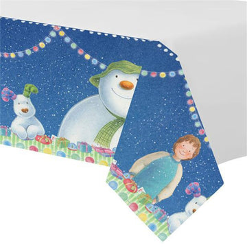 Snowman and Snowdog Plastic Tablecover - 1.37m x 2.74m (each)