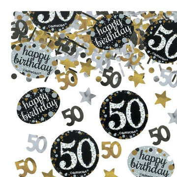 Sparkling Celebration Age 50 Confetti - 34g (each)