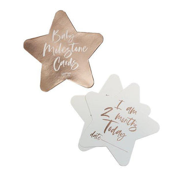 Twinkle Twinkle Rose Gold Milestone Cards