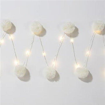 White LED Pom Pom Lights - 2m (each)
