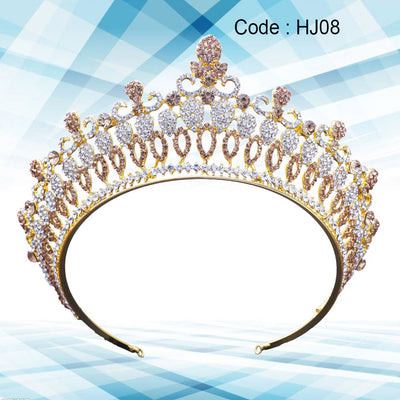 1pcs Tiara Crown Luxury Charming Baroque Hair Accessories