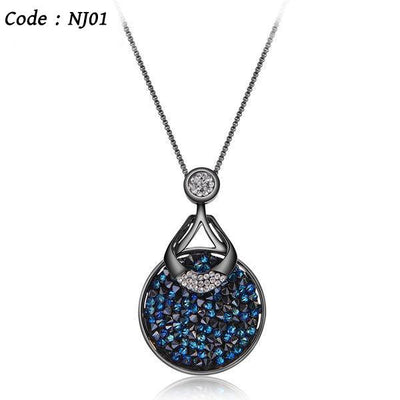 Blue Crystal Necklace  for Woman