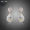 Gradual Change Color Austrian Crystals Drop Earrings