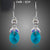 Stellux Austrian Blue Crystal Drop Earrings