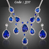 Noble Blue Cubic Zirconia  Jewelry Sets