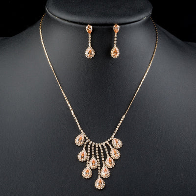 Nobleness Gold Color Cubic Zirconia Jewelry Sets