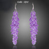 Purple Stellux Austrian Crystal Romantic Lavender Drop Earrings