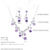 Round Purple Cubic Zirconia  Jewelry Sets