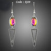 Triangle Design Gradual Change Color Stellux Austrian Crystal Drop Earrings
