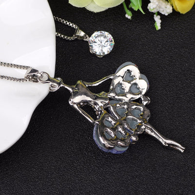 Maxi Dance Ballet Girl Fairy Angel Necklace
