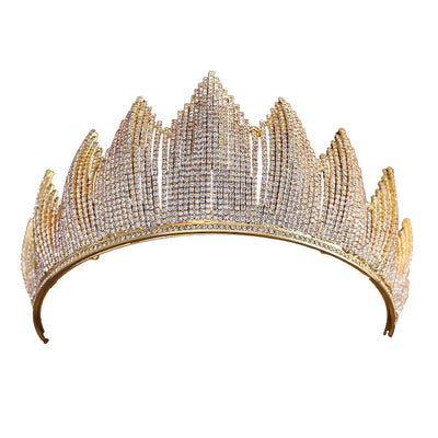crown hairbands high quality cubic zircon luxury pageant