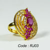 CZ stone gold color women fashion beautiful finger ring