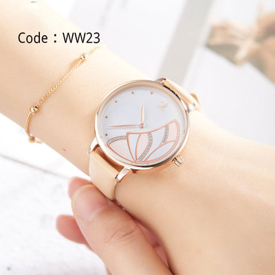 Luxury Leather  Women Watches Creative Fashion Quartz Watch