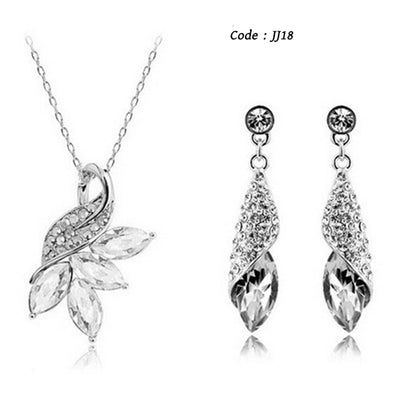 Austrian crystal Silver Color Lovely Peacock jewelry sets