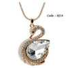 Rhinestone Crystal Vintage Swan chains long necklaces