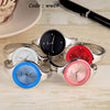 Stainless steel Wristwatch Bracelet Quartz watch Woman